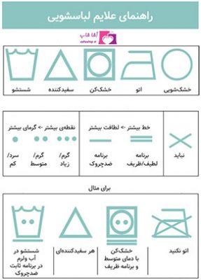 راهنمای شستشوی لباسها