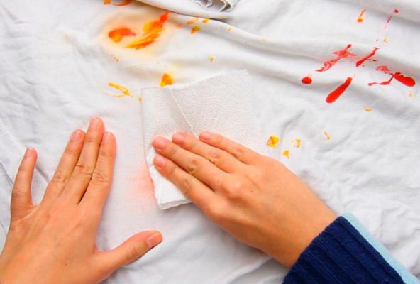 پاک کردن لکه قبل از شستشو